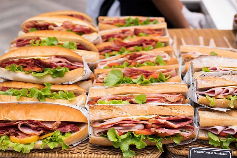 Sandwiches in allen Geschmacksrichtungen